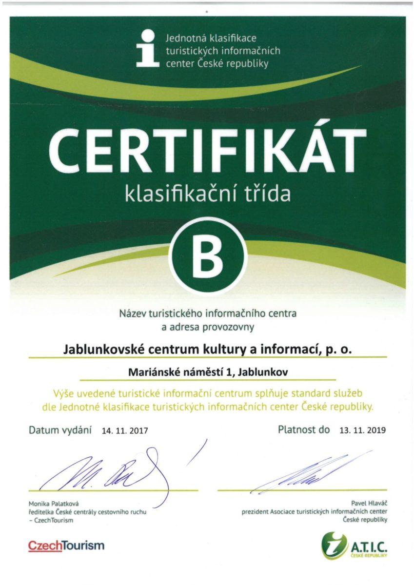 certifikat ATIC 2017